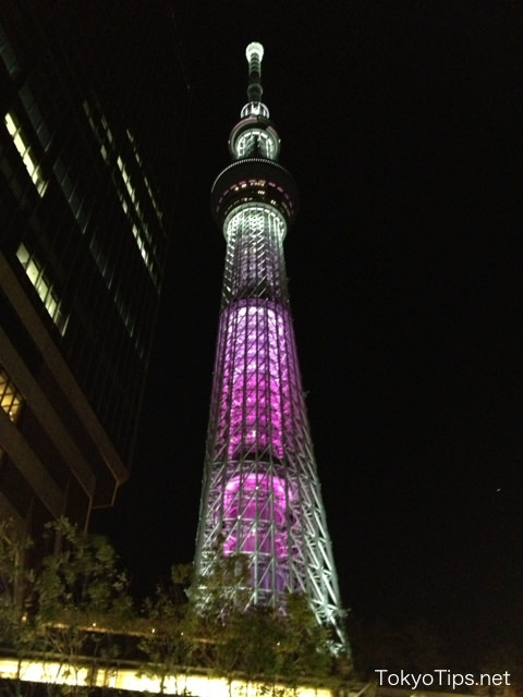 舞 (Mai) means a dance. The tower is pink overall.