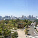 Shiokaze park is. The opposite side of the bay is central Tokyo.